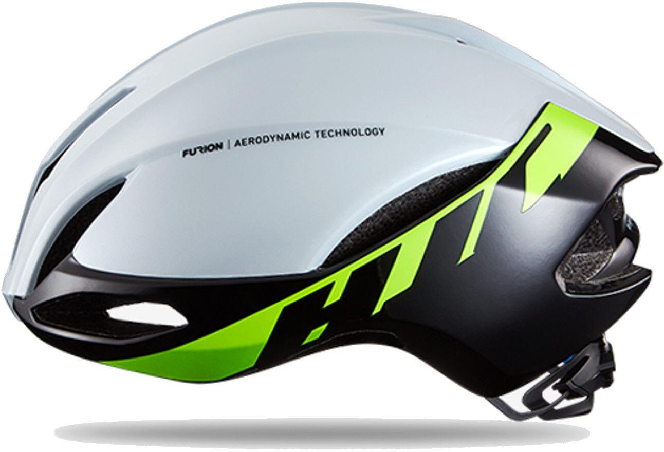 hjc furion road helmet gloss white green g nstig kaufen. Black Bedroom Furniture Sets. Home Design Ideas